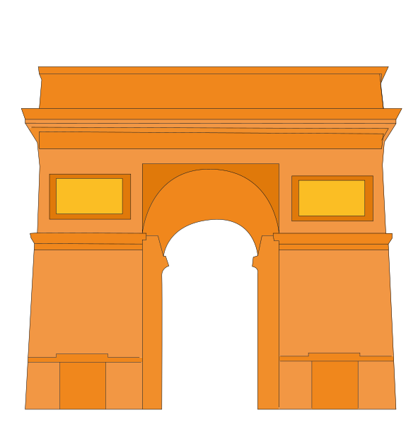 arc_de_triomphe_paris_orange