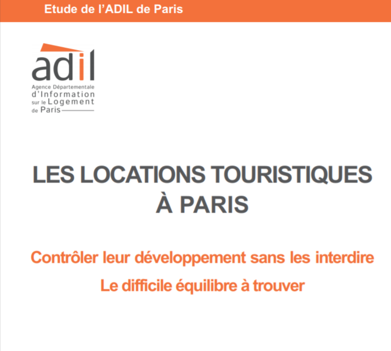 Etude ADIL 2017 : Les locations touristiques à Paris