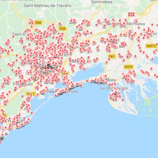 MONTPELLIER et sa région (extraction 3 janvier 2019)